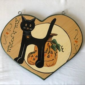 Wooden Welcome Wall Mount Sign Mexico Halloween